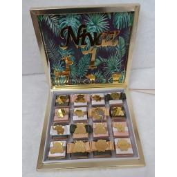 Doğum Günü Çikolatası 32 Li Pleksi İsimlikli Safari Konsepet Bebek Çikolatası