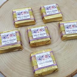 Etiketli Yıldızlı Klasik Fındıklı  Valonia Marka Söz Nişan Çikolatası