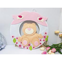 Ayıcıklı Keçe Bebek Odası Kapı Süsü