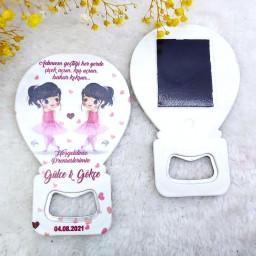 Abla Kardeş İkiz Kız Bebek Magnetler Balon Açacak HDBL41