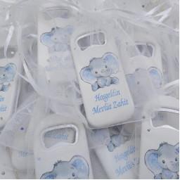 Balonlu Fil Baskılı Dikey Açacak Magnet 4,5x10,5 Cm Uv Erkek Bebek Magnetleri