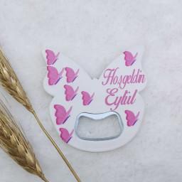 Kelebek Açacak Magnet 6x6 Cm Uv Kız Bebek Magnetleri Bebek Şekeri
