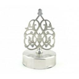 Kubbe bal kavanozu kapağı metal gümüş p1