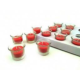 Mum kavanoz modeli camdan kırmızı pk:1