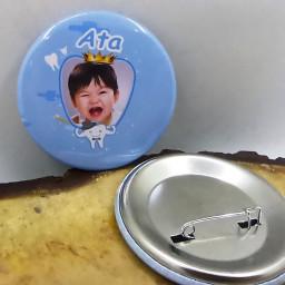 Diş Buğdayı Partisi Rozeti Resimli Metal 6 cm İğneli Yaka Rozeti