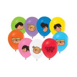 Balon 4+1 rafadan tayfa baskılı pastelpk:10