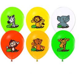 Safari Sevimli Hayvanlar 10 Lu Balon