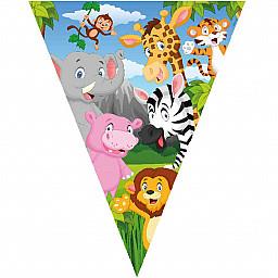 Doğum Günü Süsü Safari Temalı Flama Bayrak Set