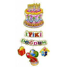 Süs iyiki doğdun duğum günü pastalı p10