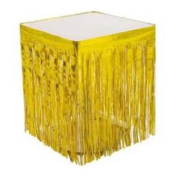 Masa kenarı eteği fonsüs metalize yerli altın pk:1