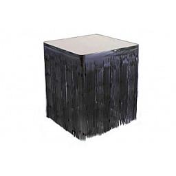 Masa kenarı eteği ve fonsüsü metalize siyah p1