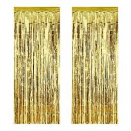 Metalize fon süsü asmalı yerli altın pk:2 li set