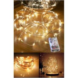 Led Işık Damla Modeli Pilli 3 Mt Günışığı Pk:1