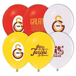Balon 10 lu 4+1 Galatasaray Baskılı Pastel Renk