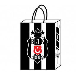 Kağıt parti çantası beşiktaş (18*24 cm) pk:12