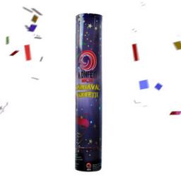 Konfeti karnaval rengarenk 30 cm pk:1