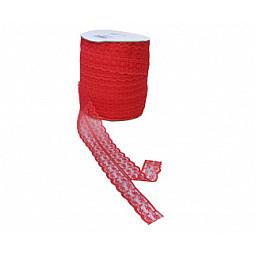 Kurdela çift dantelli 2 katlı kırmızı 100yrd.p1
