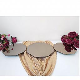 3 lü Aynalı Petek Jardinyer Söz Nişan Ev Dekorasyon Hastane Odası Süsleme