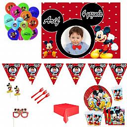 16 Kişilik Miki Afişli Parti Seti Erkek Mickey