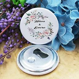 Söz Nişan Kına Düğün Hediyelik Açacak Magnet Metal 58 mm