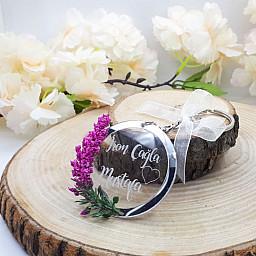 2019 Model Şeffaf Pleksi Anahtarlık Düğün Hediyelik