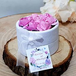 Çiçek Süslemeli Kutular Nikah Şekerleri