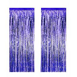 Metalize fon süsü asmalı 50x230 cm lacivert pk:2 li set