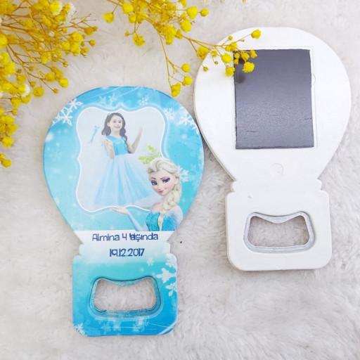 Frozen Elsa Balon Açacak Doğum Günü Magnet HDBL14