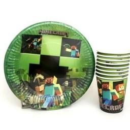 Minecraft Tabak Bardak Set 8 Kişilik