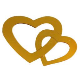 Kalp çiftli metalize süsleme altın pk:50 gr