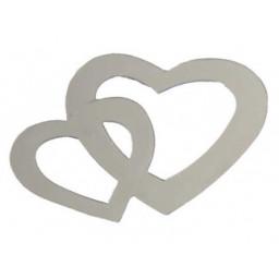 Kalp çiftli metalize süsleme gümüş pk:50 gr