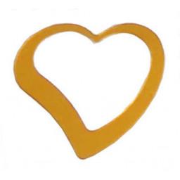 Kalp metalize süsleme altın pk:50 gr