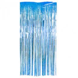 Kapı banner simli 1x2 mt mavi pk:1