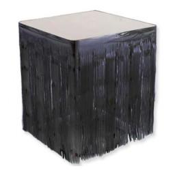 Masa kenarı eteği fonsüs metalize yerli siyah p1