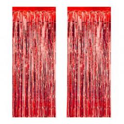 Metalize fon süsü asmalı yerli kırmızı pk:2 li