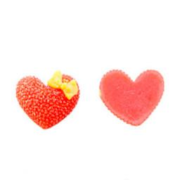Kalp  stıcker plastik kırmızı pk100
