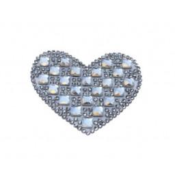 Kalp ütü ile yapışan 6.2x4cm (hot-fıx) p32