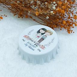 Nikah Şekeri Kapak Açacak Uv Baskılı Nişan Hediyeliği Nikah Şekeri 6 cm