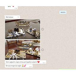 3 Lü Set Dev Kampanya Aynalı Tepsi Yaprak Desenli Söz Nişan Yüzük Tepsisi ve Damat Kahve Takımı ve Masa Üstü İsimlik Dev Kampanya