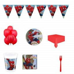 16 Kişilik Spiderman Örümcek Adam Doğum Günü Süsleri Parti Seti Uygun Fiyatlı