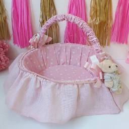 Ayıcıklı Yıldızlı Bebek şekeri Sepeti Kız Bebek