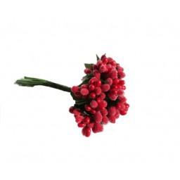 Çiçek cipso görünümünde kırmızı p144