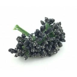 Çiçek cipso görünümünde siyah pk:144