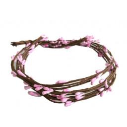 Çiçek cipso (taç yapmak için) pembe 65cm p50