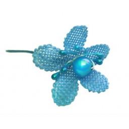Çiçek  incili ve tomurcuklu  mavi  p72