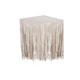 Masa kenarı eteği ve fonsüsü metalize beyaz p1